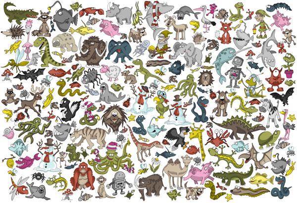 Wimmelbilder Tiere