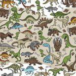 Wimmelbild Dinosaurier