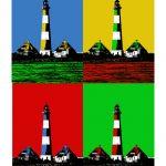 Leuchtturm Westerhever (hochvormat) 4er