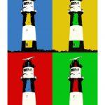 Leuchtturm Borkum (elektrischer) 4er