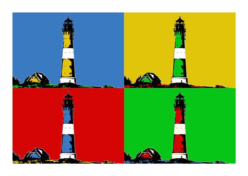 Leuchtturm Sylt Hornum 4er