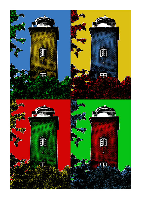 Leuchtturm Sylt Roter Kliff 4er