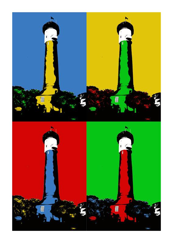 Leuchtturm Wangerooge 4er