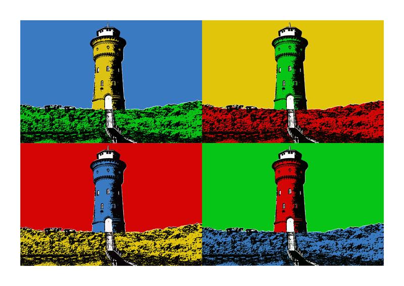 Wasserturm Borkum (alt) 4er