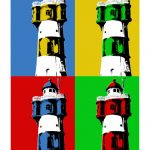 Leuchtturm Roter Sand 2 4er