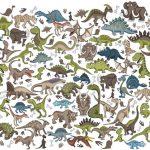 Wimmelbild Dinos