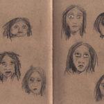 Frauen-Skizzen