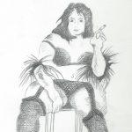 Dicke Dame (Zeichnung)
